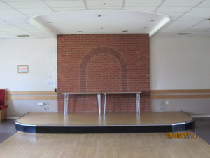 stage area at The Fordbridge Centre